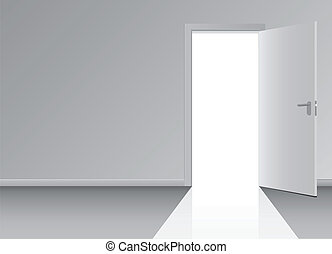 Doorway - Open the door to the doorway Vector illustration