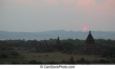 Sunset in Bagan timelapse - Bagan, Myanmar
