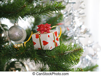 baum, Weihnachten, Geschenk