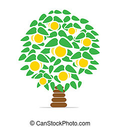 Fruit tree - Vector illustration