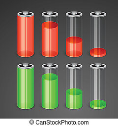 Batteries with different level