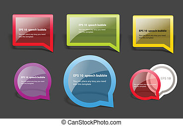 Glass advertising boards - Vector illustration