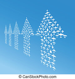 vector airplanes in perspective