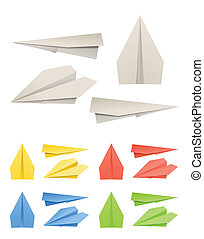 Colorful paper models of planes