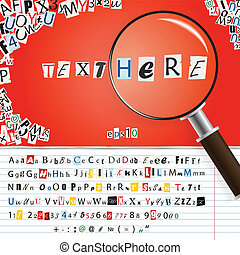 Searching magnifier