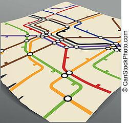 vintage metro scheme