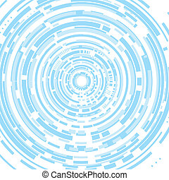 Techno abstract white-blue background