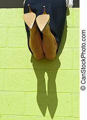 Sexy female legs and shadow