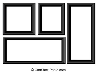 Black picture frames - Frame set for pictures, photos,...