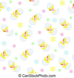 Seamless structure amusing chickens - Wall-paper from...