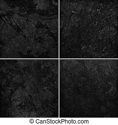 Four different black marble texture