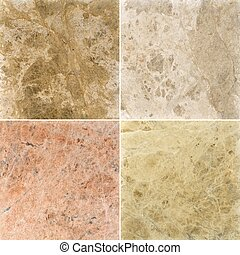 Four different marble texture