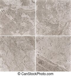 Four different beige marble texture