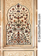 Decoration Harmandir Sahib - a marble inlay work in the...
