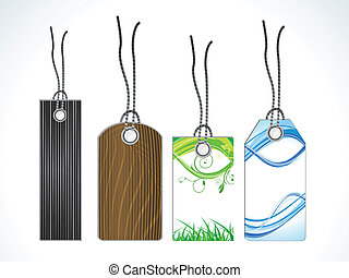 abstract multiple sale tags