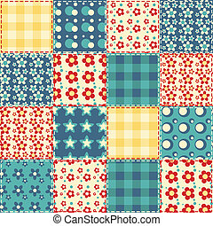 Quilt seamless pattern 3 - Quilt seamless pattern. Vector...