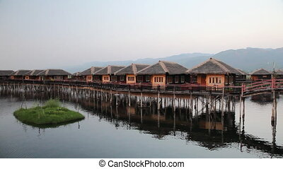Bungalows on Inle lake