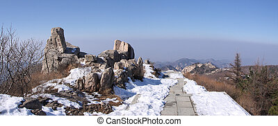 mount taishan top plateau shandong china asia