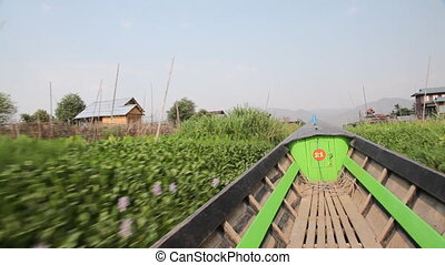 Boats on Inle lake , Myanmar