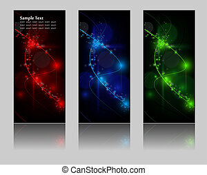 abstract glowing banners