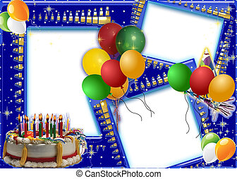 birthday wishes - birthday card frame for your special...