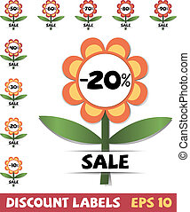 Set of discount labels