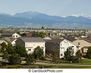 Houses - Suburban subdivision in town of Erie, Colorado