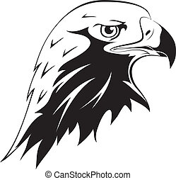 Tattoos Eagles head - A wild predator Tattoos Vector black...
