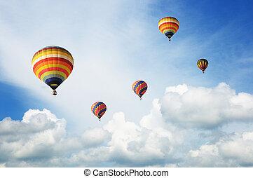 balões, coloridos