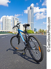 Bicycle On Empty Road