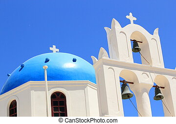 Church at Oia, Santorini, Greece