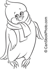 Cute little penguin - Coloring book with cute little penguin