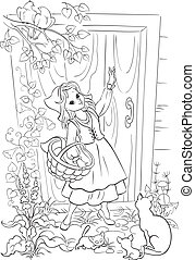 Little Red Riding Hood - Coloring book with Little Red...