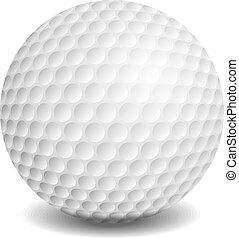Golf ball, vector eps10 illustration