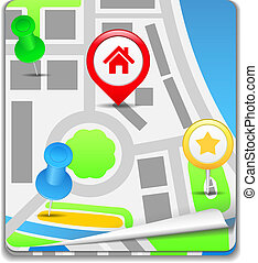 Map Icon, vector eps10 illustration