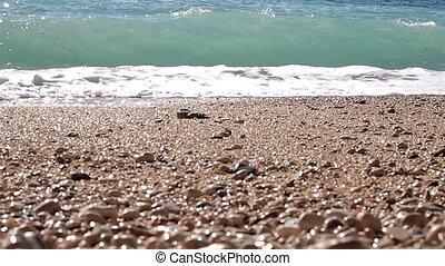 Sea coast - Surf seascape background