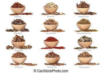 Traditional Chinese Medicine with Titles - Collection of...