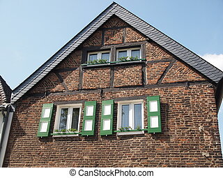 Storefront - Ancient half-timbered construction facade