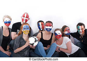 Football fans - Picture of football fans together