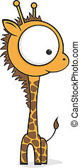 Big eyed giraffe - Cute cartoon giraffe with huge eyes