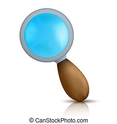 Vector magnifier isolated on white. Eps10