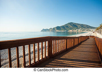 Down to the beach - A user friendly walkway leading down to...