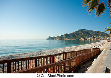 Albir beach - Scenic Albir beach on the Costa Blanca, Spain