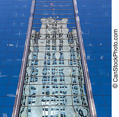 Reflection of Chicago Tribune Tower - Reflection of Tribune...