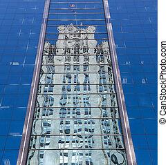 Reflection of Chicago Tribune Tower - Reflection of Tribune...