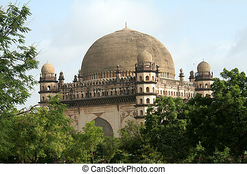 Gol Gumbaz amidst Greenery - Gol Gumbaz, the second biggest...