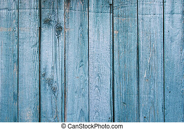 Faded Blue, 1890s Weathered Wood - Close up of vintage 1890s...