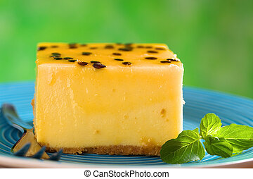 Passion Fruit Cheesecake - Fresh passion fruit cheesecake...