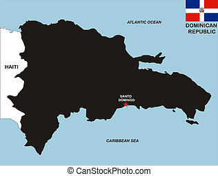 dominican republic map - very big size dominican republic...