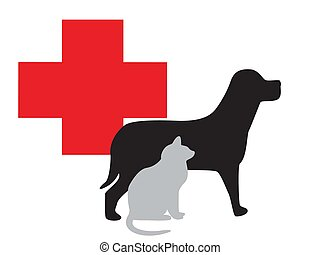 veterinarian - abstract ache animal art background box breed...